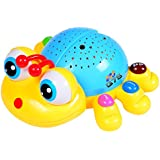 Starry Caterpillar with bright stars & musical nightlight and stories. Learning toy, baby toys. Q7S®