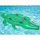 Krokodil Schwimmende Aufblasbare Schwimmende Bett Schwimmende Liegen Außenpool Wesentliche Geeignet Für Spielplatz Strand Urlaub Party (80 X 45 In)