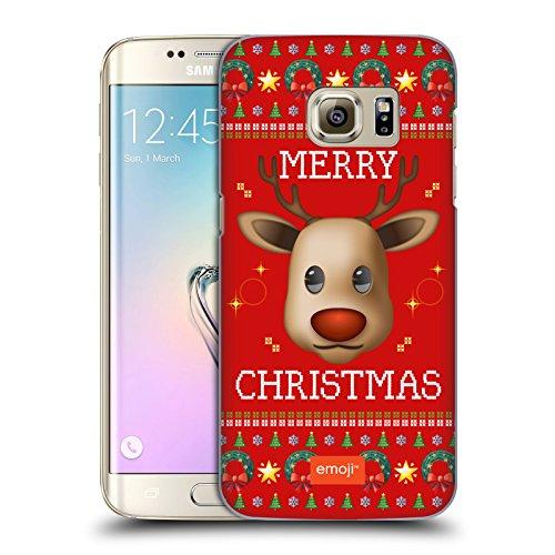 Offizielle Emoji Rentiere Hässliches Weihnachten Ruckseite Hülle für Samsung Galaxy S7 (Passt Hässliche Weihnachten)