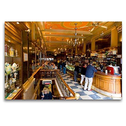 CALVENDO Tela in Tessuto, 120 cm x 80 cm Orizzontale, la Famosa Café Brasiliana, Immagine su Telaio a Cunei, su Vera Tela, Stampa su Tela Orte