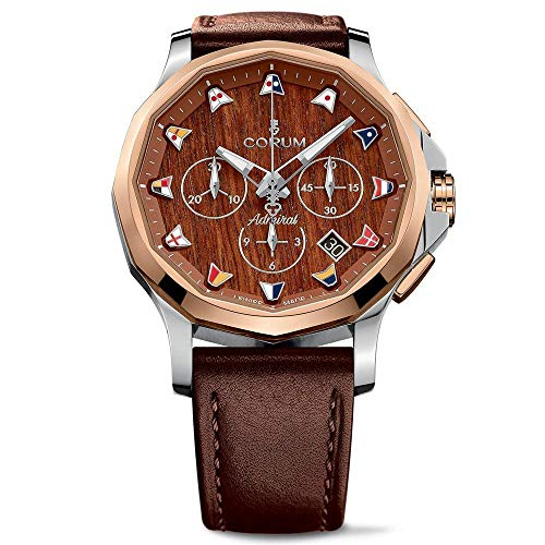 Corum Men's Admiral's Legend 42 42mm Brown Leather Band Steel Case Automatic Watch 984.113.24/F372 AW12