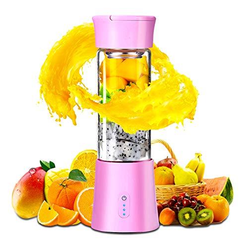 Batidora Portatil USB Recargable, Extractor de Jugos para Frutas y Verduras, Exprimidor Electrico Zumo...