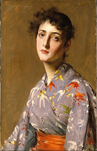 Das Museum Outlet–William Merritt Chase–Girl In ein Japanisches Kostüm–Leinwanddruck Online kaufen (152,4x 203,2cm) (Japanische Kostüme Online)