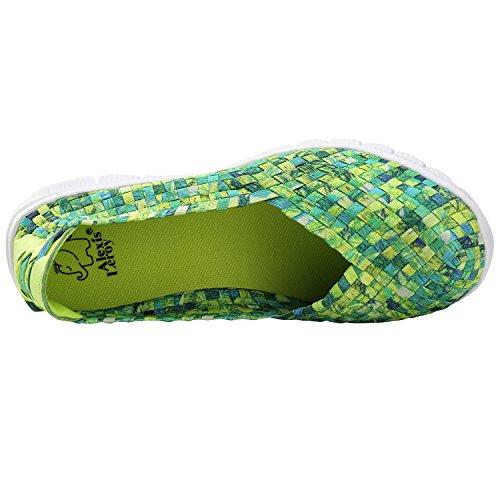 Alexis Leroy Sneakers Bequemschuhe Walkingschuhe Damen Geschlossene Ballerinas Grün