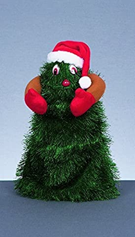 18cm (7) Musical Dancing Christmas Tree Dancing to Jingle Bell Rock by Premier (Dancing Santa Weihnachten)