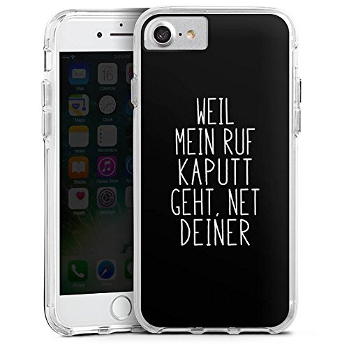 Apple iPhone 7 Plus Bumper Hülle Bumper Case Glitzer Hülle Weil Mein Ruf Kaputt Geht Pietro Lombardi Spruch Bumper Case transparent