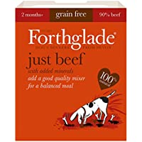Forthglade 100% Natural Grain Free Complementary Dog Pet Food Just 90% Beef 395g (18 Pack)