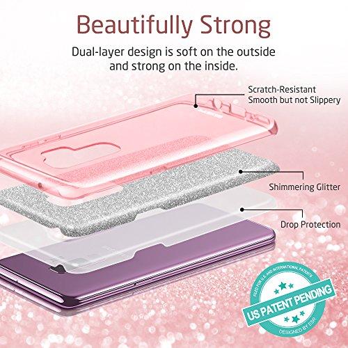 ESR Cover per Samsung Galaxy S9 Plus con Brillantini/Glitters, Custodia Brillante Lucciante Luminosa [Elastica e Morbida] per Samsung Galaxy S9 Plus (Uscito a 2018). (Oro Rosa)