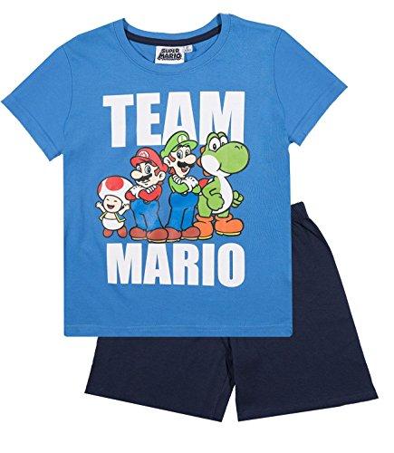 Super Mario Bros Ragazzi Pigiama maniche corte - blu - 134
