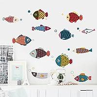 Benbroo Colorfull Fish Decorative Wall Stcikers Decoration Paste Wall Art Sticker Decoration 12 Pack