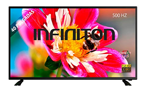 TV LED 40' INFINITON INTV-40 Full HD - Reproductor y Grabador USB, 3 x HDMI, Modo Hotel