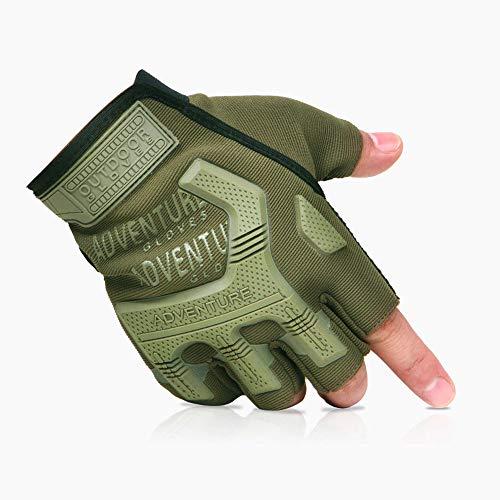 PBFONE 1 Paar Taktische Handschuhe, Half Finger Hard Knöchel Militärhandschuhe für Armee Getriebe Sport, Motor Driving, Outdoor, Camping, Jagd, Schießen - Kaltes Wetter Schießen Handschuhe