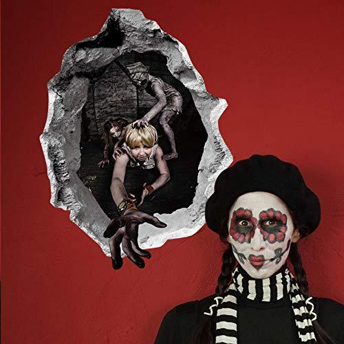 Abnehmbare Halloween Dekoration Wandaufkleber Für Kinderzimmer Spukhaus Party Tür Kinder Schlafzimmer Home Art Decasl