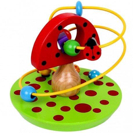 Circuit de motricité champignon Jouet d'éveil en bois et métal Bébé 1 an +