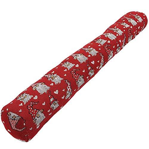 SunDeluxe Burlete de bajo de Puerta, cojín Tope para Puertas navideño 90 x 10 cm - Burlete de Navidad para Ventana o Puerta con Divertido diseño, Motivo:Papás Noel