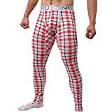Hosen Herren Yoga Winter Warm SOMESUN Herren Winter Thermische Enge Compression Base Layer Hose Lang (XL, Rot)