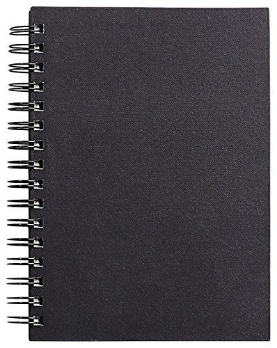 Clairefontaine 34256C Goldline carnet spiralé 64F 14,8x21cm 140g papier blanc Noir - portrait - couverture rigide