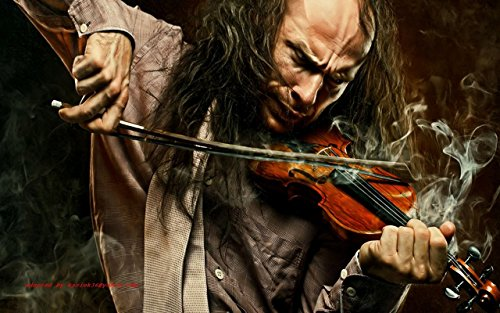 Music Violin Manipulation CGI Digital Art Trippy Wall Poster on fine art paper 13x19  available at amazon for Rs.197
