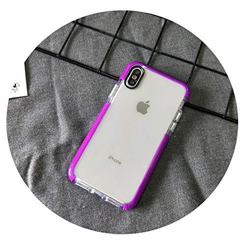 auguce Einfache Stoß- Telefonkasten für iPhone X XR XS Max Klar weiche Silikonhülle für iPhone 6 6s 7 8 Plus Schutzhülle, Lila, für iPhone 6 6S