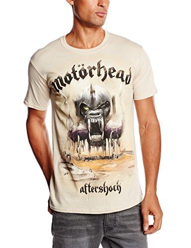 Motorhead DS EXL Aftershock Album - Camiseta para hombre, color beige - beige, talla L