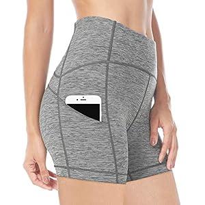 Queenie Ke Damen 6″ Beininnen Power Flex Mittlere Taille 3 Tasche Laufshorts Training Fitness