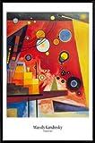 Wassily Kandinsky Poster und Kunststoff-Rahmen - Schweres Rot, 1924 (91 x 61cm)