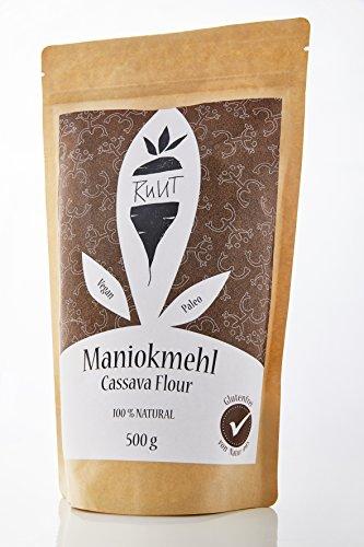Ruut Maniokmehl/100% Natürlich/Paleo/Vegan/Glutenfreies Mehl/Nussfrei Backen/Gesundes Brot Backen/Getreidefrei/Autoimmun Ernährung (AIP)/low-FODMAP/Ohne Zusätze/500g