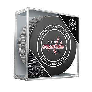 Inglasco NHL Washington Hauptstädte Regular Season 960T 2018Offizielle Spiel Puck, Einheitsgröße, schwarz