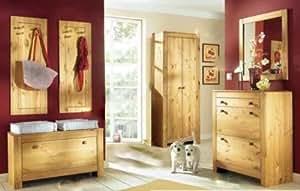 6 tlg garderoben set aus massiver kiefer dielen set dielenm bel k che haushalt. Black Bedroom Furniture Sets. Home Design Ideas