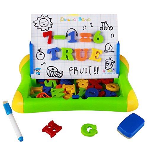 HM TOYS Giochi Lavagna Magnetica ABC Puzzle Magnetico Lettere Numeri 57pcs per 3+