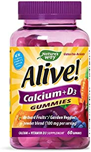Alive Nature's Way Calcium + D3 Gummies