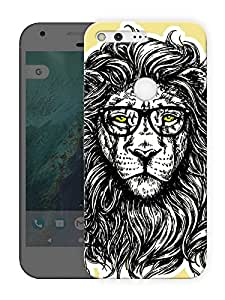 "Humor Gang king jungle enhanced Printed Designer Mobile Back Cover For ""Google Pixel XL"" (3D, Matte Finish, Premium Quality, Protective Snap On Slim Hard Phone Case, Multi Color)"