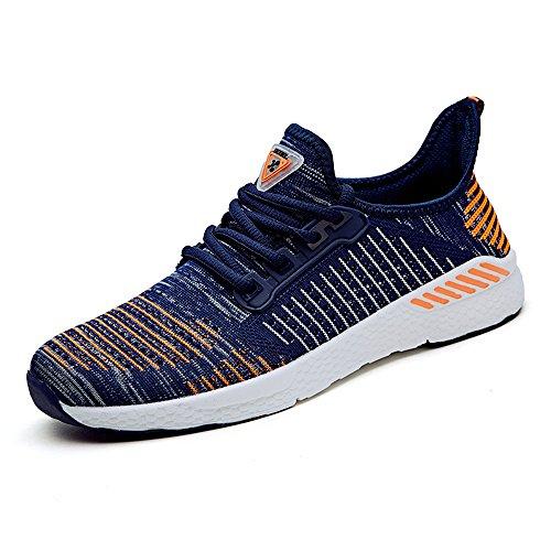 FLARUT Scarpe Sportive Estive Corsa in Montagna Scarpe Asfalto e Gli Sport All'aria Aperta e Scarpe da Corsa per Gli Uomini Donne blu-arancione