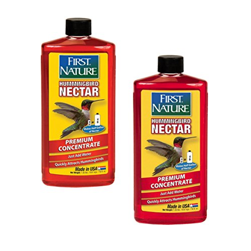 2er Pack First Nature 3050 Rot Kolibri Nektar, 473 ml Konzentrat -