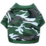 Aeici Hundekleidung Haustier Kleidung Kleiner Hundetarnungs T Shirt Mehrfarbenfrühlings Sommer M