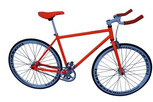 2Fast4You Erwachsene Singlespeed Bike, Orange, Rahmenhöhe: 54 cm, Reifengröße: 28 Zoll (71 cm), 130711-1