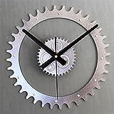 ZWL 3D dreidimensionaler kreativer Metallfarben-Zahnrad DIY Uhr Retro- Metall DIY Wand-Taktgeber 30 * 30CM fashion ( Farbe : #1 )