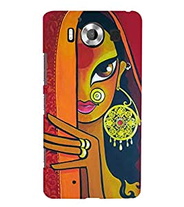 Print Masti Designer Back Case Cover for Microsoft Lumia 950 :: Nokia Lumia 950 (Ring Hair ring Palla Eyes Lips)