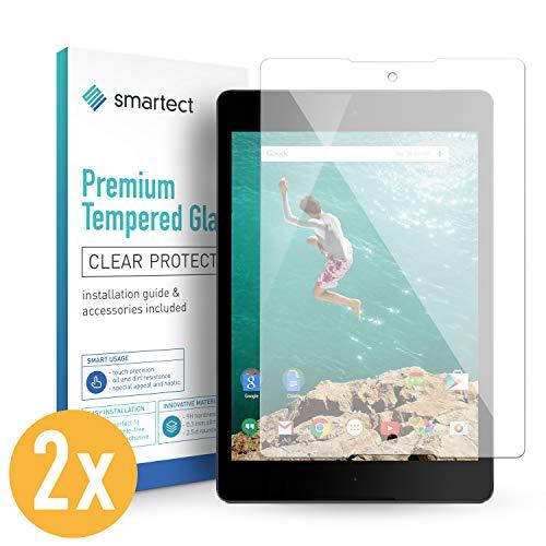 smartect Panzerglas für HTC Google Nexus 9 [2 Stück] - Bildschirmschutz mit 9H Härte - Blasenfreie Schutzfolie - Anti Fingerprint Panzerglasfolie