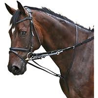 PFIFF Hilfszügel Thiedemann-Kombination - Pechopetral/Martingala de hípica, color negro, talla Pony