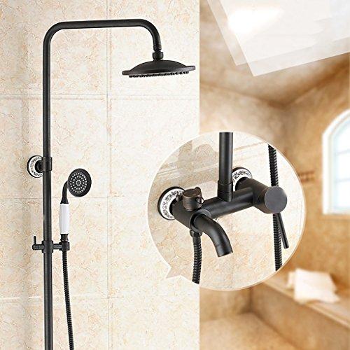 Doccia, retro doppia doccia europeo, rubinetto, tutte con doccia rame retrò (...