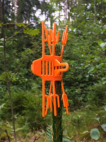 Volk's Baum Verbissschutz- Schutz vor Wildverbiss 100 Stück in Orange (Qualität direkt vom Hersteller)