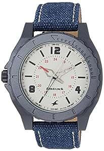 Fastrack OTS Explorer Analog White Dial Men's Watch -NK9462AL03