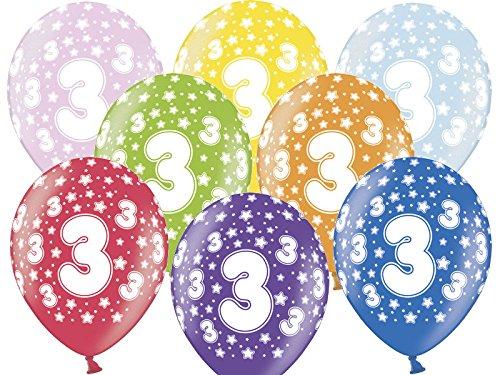 zum 3. Geburtstag - Kindergeburtstag Ballon - Kleenes Traumhandel® (3 Ballon)
