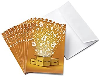 Amazon.co.uk £5 Gift Cards - 10-Pack Greeting Cards (Amazon Boxes)