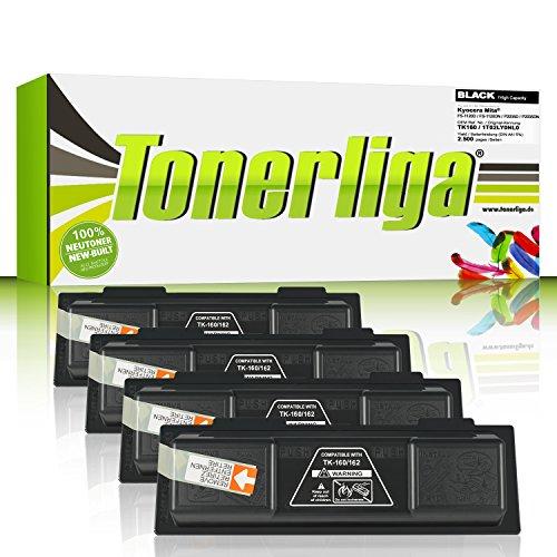 Preisvergleich Produktbild 4x Neu Toner ersetzen TK160 für Kyocera ECOSYS P2035D / FS-1120D / FS-1120DN / ECOSYS P2035DN, schwarz, 100% Neuware