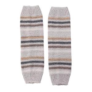 BESTOYARD Stulpen Herbst Winter Stripes Passende gestrickte Wolle warme Socken Ärmel Stiefel Leggings