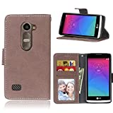 BONROY Case,LG Leon 4G LTE H340N C40 C50 Flip Leather Case,