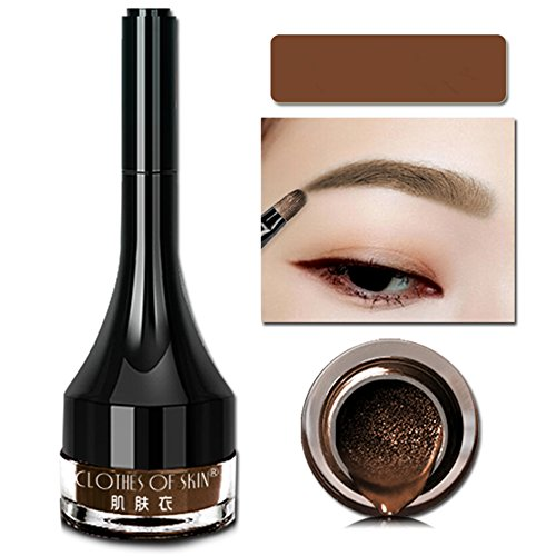 ROMANTIC BEAR Natural-Looking Cushion Waterproof Eyebrow Tattoo Gel Wasserfest Augenbrauen Farben (Lichtbraun)