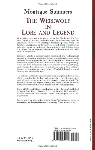 Werewolf in Lore and Legend (Dover Occult)